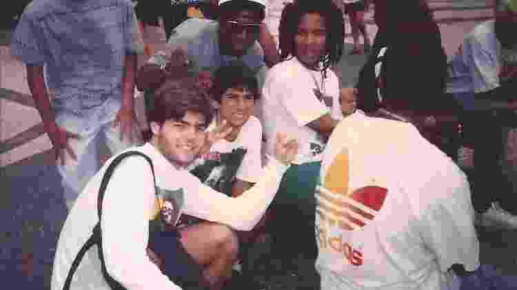 William Lantelme com Nabby Clifford e Stephan Marley, no Rio, nos anos 1990 - Arquivo pessoal - Arquivo pessoal