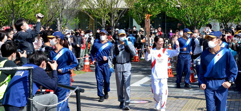 A passagem da tocha olímpica por Toyohashi (Japão) - Rodrigo Sicuro/UOL