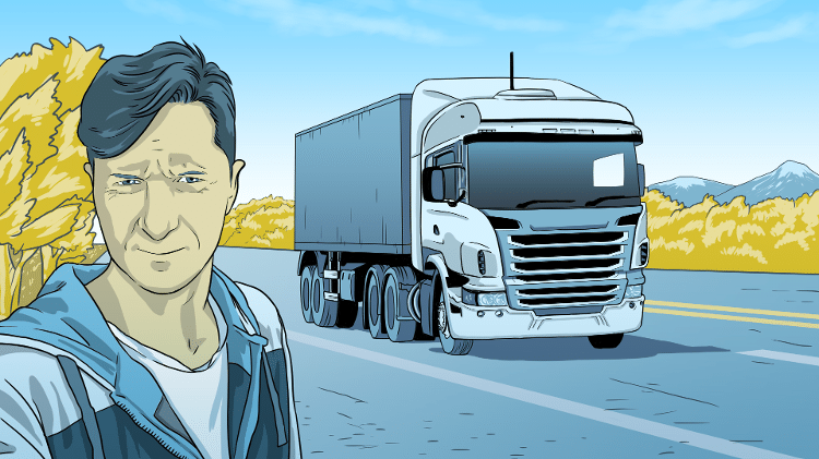O caminhoneiro Rodrigo Bressan, de São Borja (RS) - Leonardo Silva/UOL
