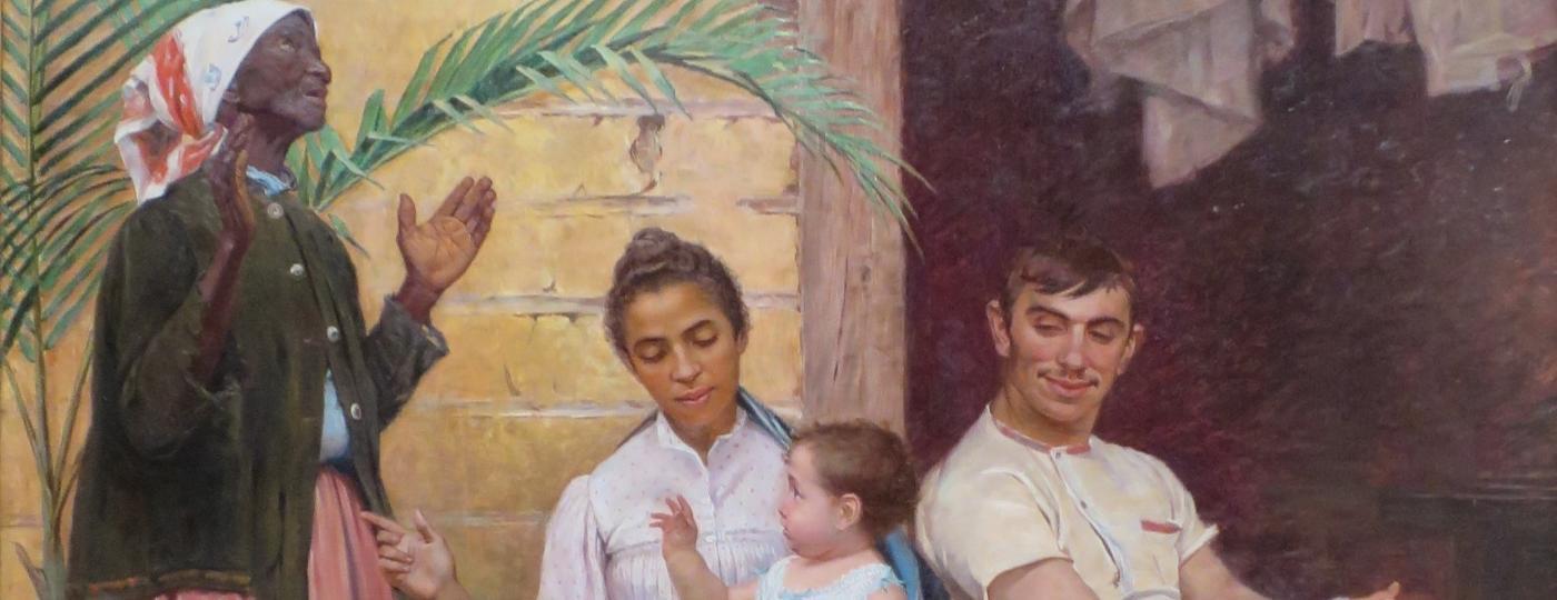 """O quadro """"A Redenção de Cam"""" do pintor espanhol Modesto Brocos é um registro do """"embranquecimento"""" como solução de melhoria para o povo brasileiro - Wikimedia Commons"""