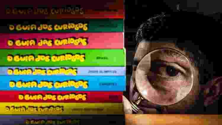 O autor Marcelo Duarte e a coleção de 'O Guia dos Curiosos' - Fernando Moraes/UOL - Fernando Moraes/UOL
