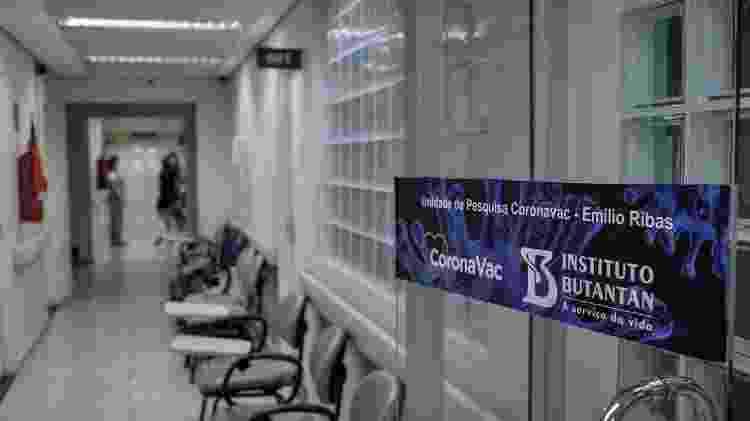 Unidade de pesquisa da Coronavac no Hospital Emílio Ribas, em São Paulo - Reinaldo Canato / UOL - Reinaldo Canato / UOL
