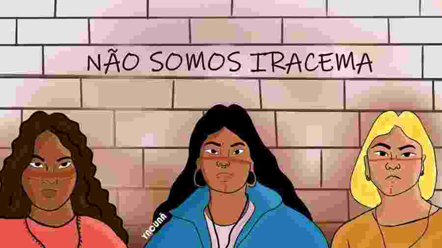 Ilustração ?Não somos Iracema?, de Yacunã Tuxá - Yacunã Tuxá/Reprodução