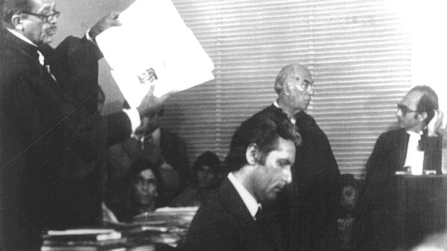 Julgamento de Doca Street no caso do assassinato de Ângela Diniz. Ele foi julgado e condenado a dois anos, com direito a sursis. Saiu livre do tribunal e virou uma espécie de herói nacional. (Folhapress) - Folhapress/Folhapress
