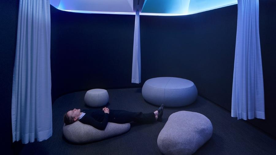 Câmaras de meditação do Office of Things - Tom Harris/Divulgação