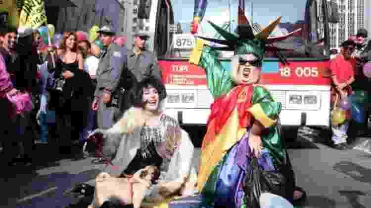 Marilyn Du Morro e Kaká di Polly relembram a primeira marcha na Parada de 2000 - Arquivo Pessoal - Arquivo Pessoal