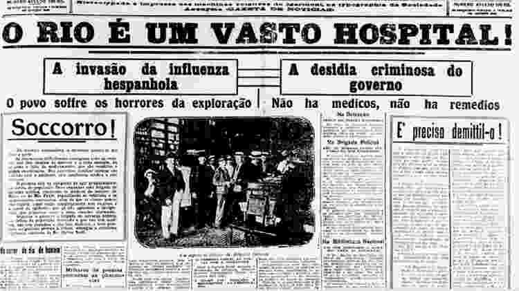 Primeira página do jornal carioca Gazeta de Notícias - Reprodução - Reprodução