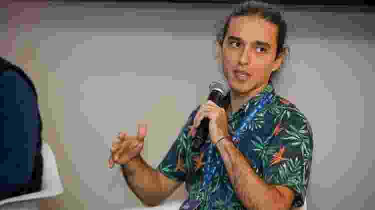 "André Antivilo no Festival Path, durante a palestra ""Foodtech"" - Marcelo Justo/UOL"