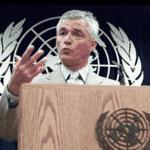 Sergio em discurso na ONU - Centro Sergio Vieira de Mello