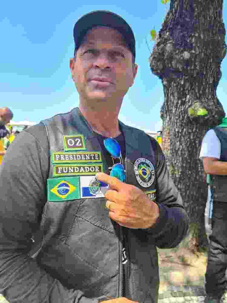 Cabo Lucena, no Sete de Setembro que reuniu apoiadores de Jair Bolsonaro, no Rio - Elisa Soupin/UOL - Elisa Soupin/UOL