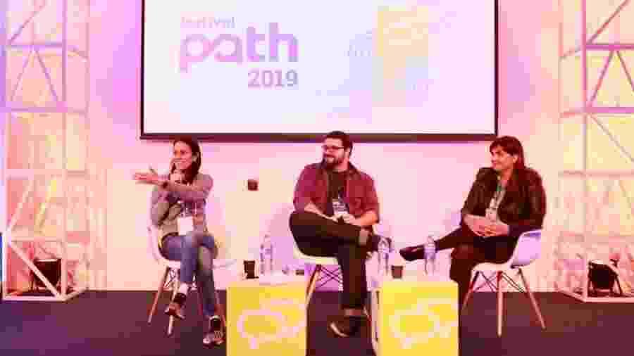 """Palestra """"Quando diversão e saúde se unem: o uso de games no tratamento médico"""" no Festival Path - Iwi Onodera/UOL"""