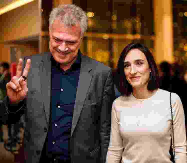 Os jornalistas Pedro Bial e Maria Prata na pré-estreia do filme 'Elis', no Shopping JK Iguatemi, em São Paulo, em 2016 - Bruno Poletti/Folhapress - Bruno Poletti/Folhapress