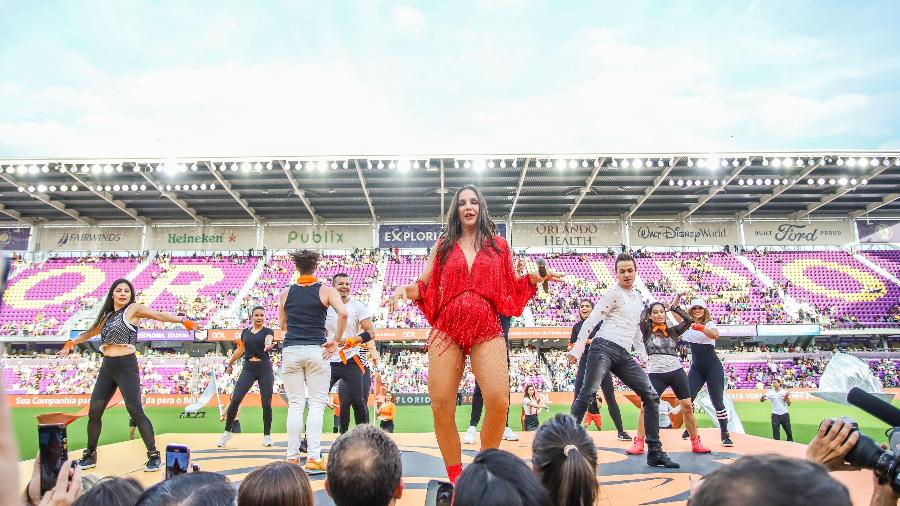 A cantora Ivete Sangalo durante show na Florida Cup, em Orlando  - Vanessa Carvalho/Folhapress