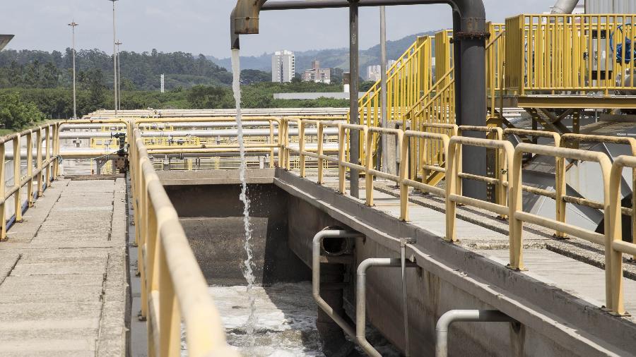 Estação de tratamento de esgoto da Sabesp, em Barueri (SP) - Gabriela Cais Burdmann/UOL