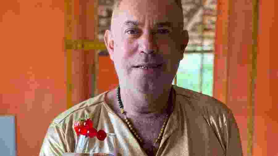 Estevão Ferreira, estrela do WhatsApp, comemorando seu aniversário de 51 anos  - Arquivo Pessoal