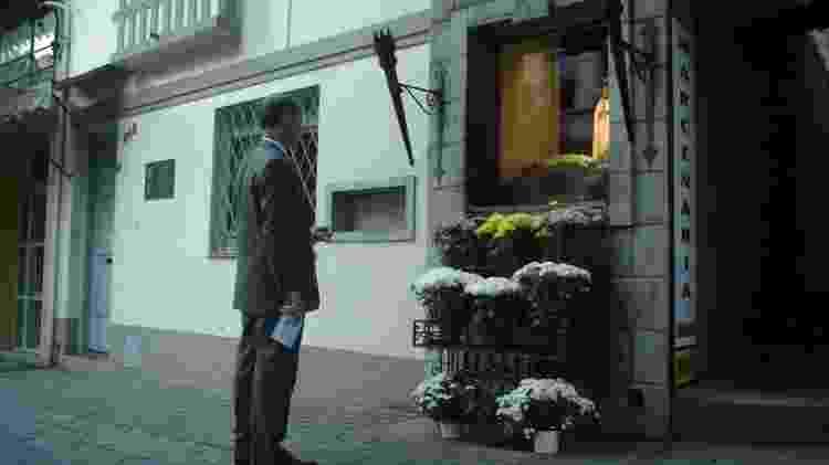 Em abril de 2004, membro da TFP em frente à imagem de Nossa Senhora de Fatima, no oratório da rua Martim Francisco - Joao Wainer/Folhapress - Joao Wainer/Folhapress