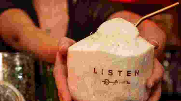 Drink do bar totalmente sem álcool chamado Listen, em Nova York (EUA) - Reprodução - Reprodução