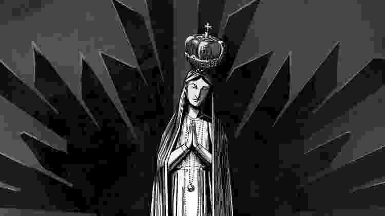 """Ilustração de Bruno Romão para a nova edição de """"Rainha do Ignoto"""" - Editora Fora do Ar/ Divulgação - Editora Fora do Ar/ Divulgação"""
