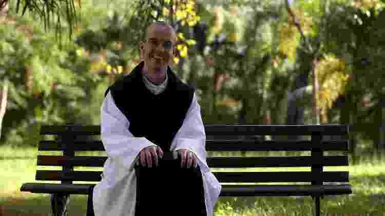 O padre Gabriel Vecchi, da Ordem Cisterciense da Estrita Observância, no Paraná - Arquivo pessoal