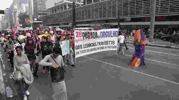 Parada do Orgulho Gay, em 1997 - LULUDI/ESTADÃO CONTEÚDO/AE - LULUDI/ESTADÃO CONTEÚDO/AE