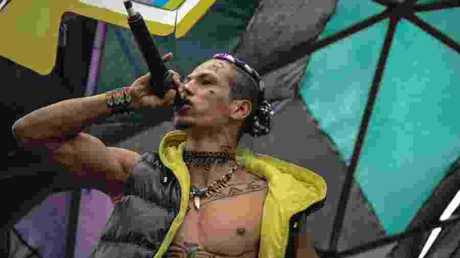 Wera MC se apresenta no festival de música indígena em São Paulo - Júlia Dolce/UOL