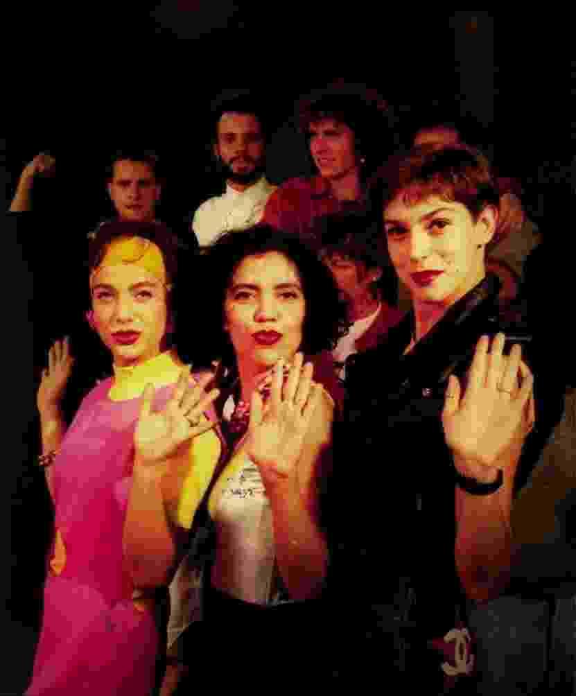 Da esq. para dir., as apresentadoras Daniela, Astrid Fontenelle e Maria Paula, na inauguração da MTV Brasil, em 1990 - Juan Esteves/Folhapress
