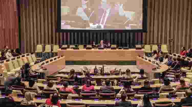 O médium brasileiro Benjamin Teixeira de Aguiar, em evento na sede mundial da ONU, em Manhattan, Nova York, em 2015 - Divulgação - Divulgação