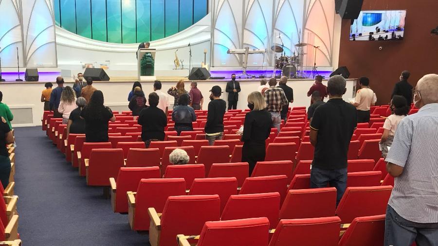 Culto em igreja evangélica no centro de São Paulo - Felipe Pereira/UOL