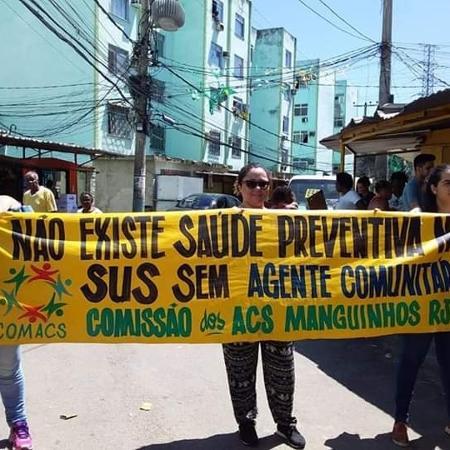 Protesto de agentes de saúde de Manguinhos, no Rio - Fabio Monteiro/Arquivo Pessoal