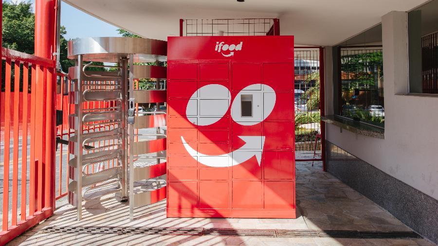 O iFood Box é um armário com toque de isolamento térmico para receber entregas - Luiza Florenzano/Divulgação