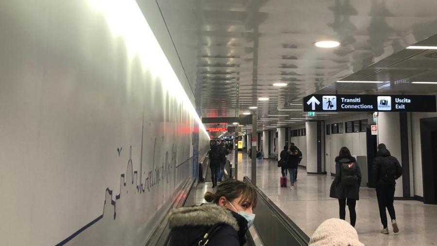Aeroporto de Fiumicino, em Roma - Lucas Ferraz/UOL