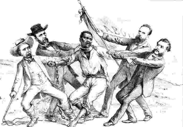 """""""Aspecto natural da questão servil"""", charge de Ângelo Agostini (1843-1910) - Reprodução/Wikimedia Commons - Reprodução/Wikimedia Commons"""