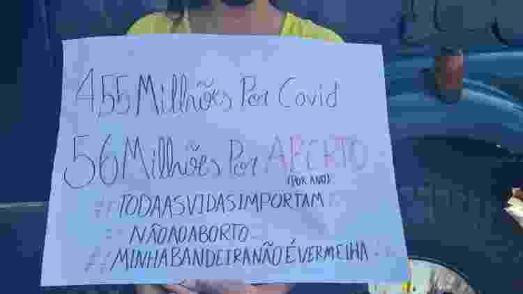 Cartaz no Sete de Setembro, no Rio - Elisa Soupin/UOL - Elisa Soupin/UOL