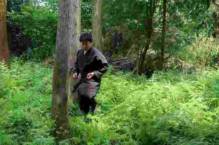 Genichi Mitsuhashi e seu treinamento de ninja em Iga, no Japão - AFP/Arquivo pessoal - AFP/Arquivo pessoal