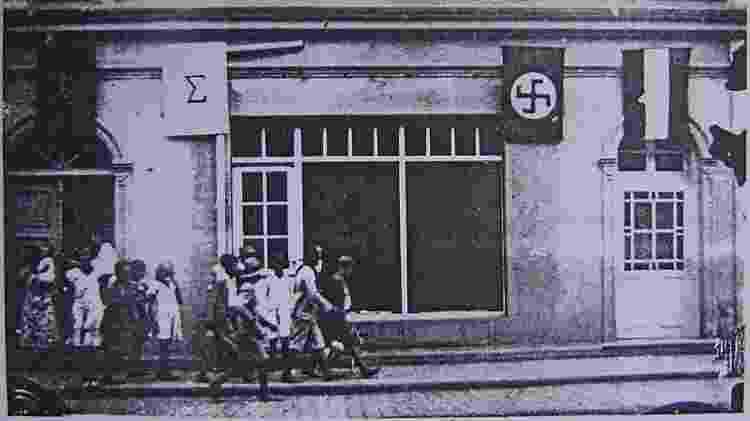 No Rio Grande do Sul, o Partido Nazista chegou a dividir a sede com o movimento Integralista - Reprodução - Reprodução
