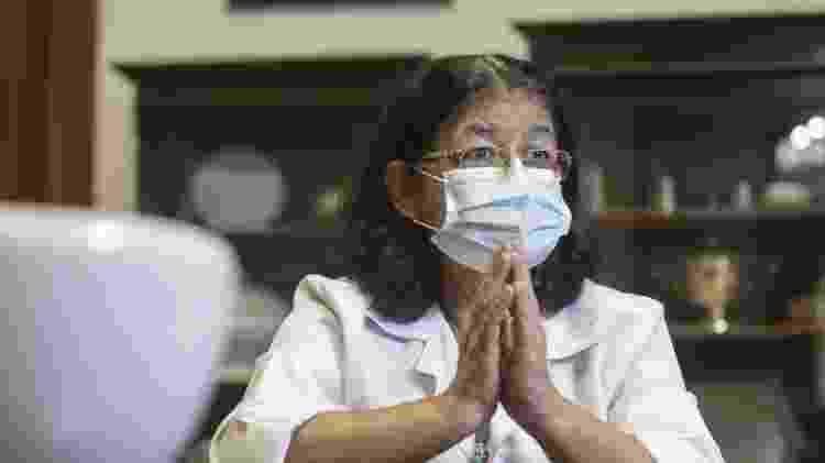 Neide Correa, 67, é capelã evangélica do Hospital Emílio Ribas - Ricardo Matsukawa/UOL - Ricardo Matsukawa/UOL
