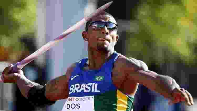 Decatleta Felipe dos Santos, no arremesso de dardo dos Jogos Pan-Americanos do Rio, em 2015 -  Rob Schumacher/USA TODAY Sports  -  Rob Schumacher/USA TODAY Sports