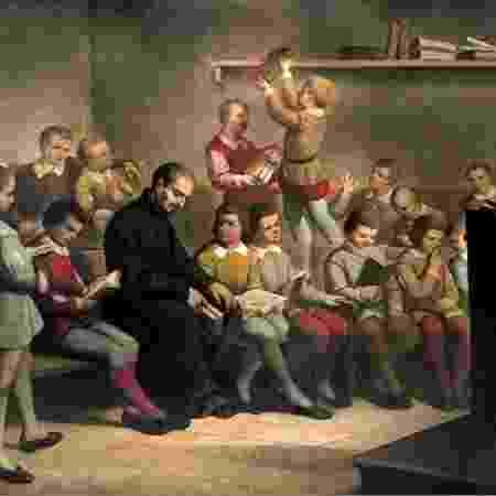 A educação jesuíta - Reprodução
