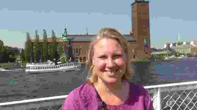 A médica Jenny Fjell em Estocolmo, antes da pandemia - Ulla Klang/Arquivo pessoal - Ulla Klang/Arquivo pessoal