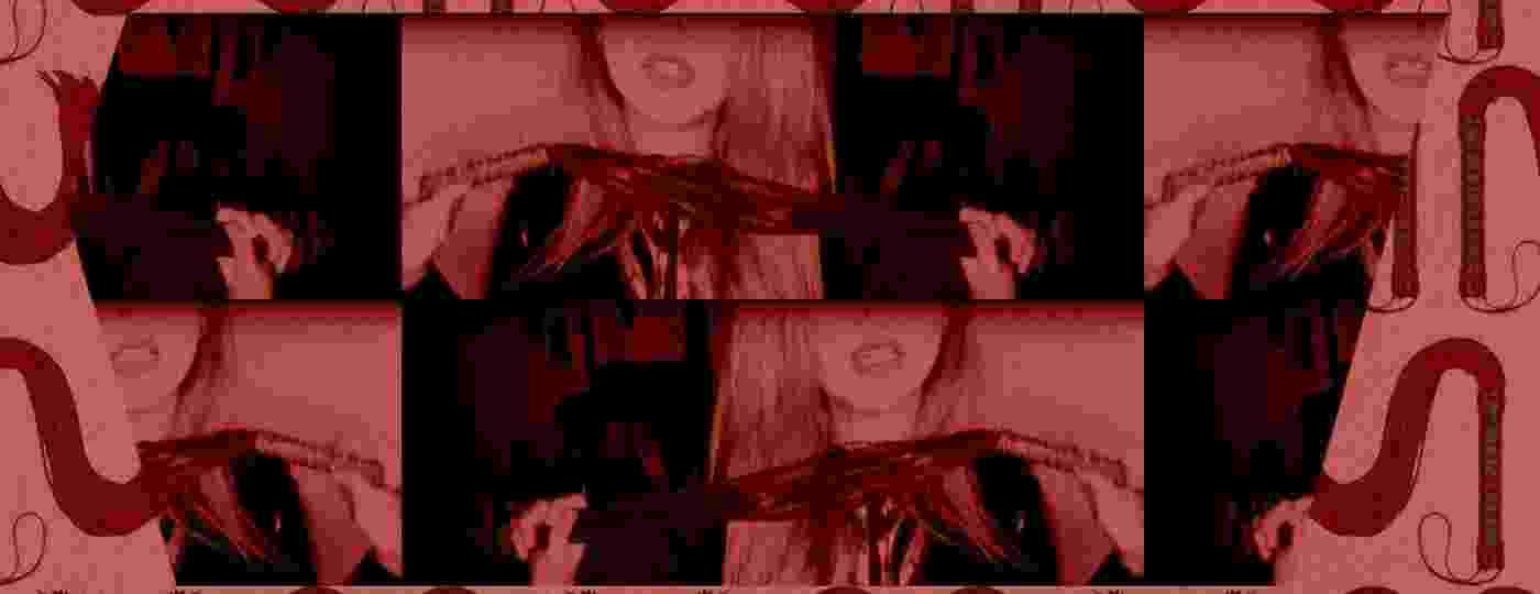 Mistress Charlotte, dominadora profissional, se exibe para a webcam - Arquivo pessoal/Arte UOL
