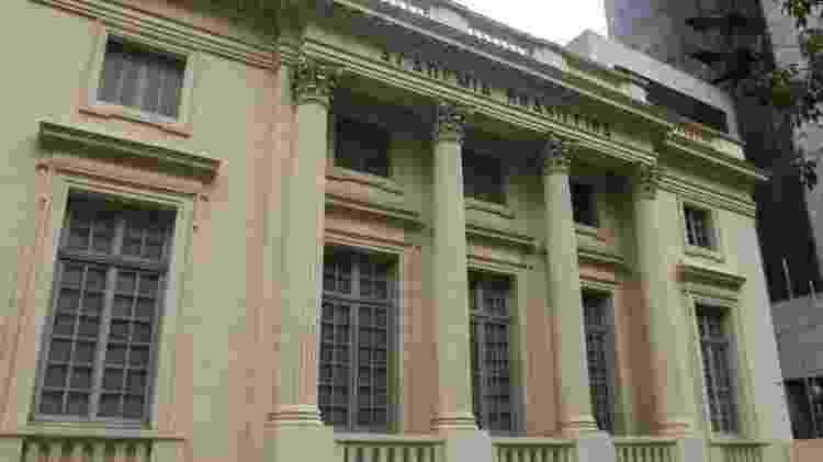Fachada do palacete Petit Trianon, na região central do Rio de Janeiro. - Mathilde Missioneiro/Folhapress - Mathilde Missioneiro/Folhapress