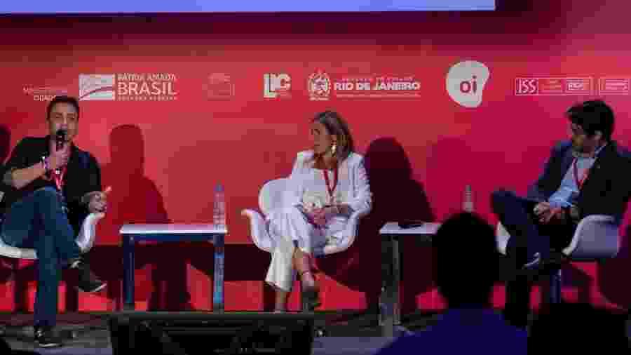 Luiz Fernando Oliveira, Maria Macedo e Timotheo Silveira debatem sobre sustentabilidade e alimentação saudável no Rio2C - Cacalos Garrastazu/Eder Content 2019