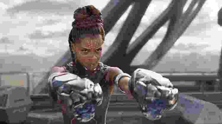 Shuri, do filme Pantera Negra, é uma personagem cuja inteligência atiçou haters nas redes sociais - Divulgação