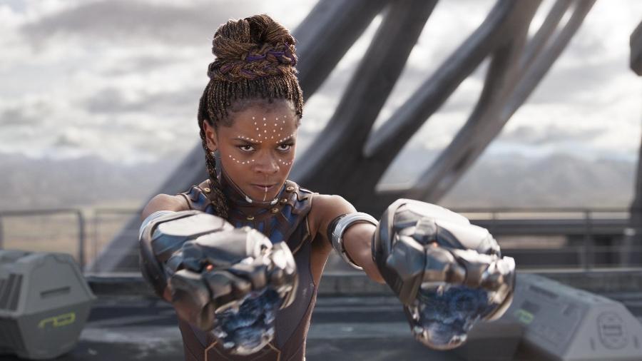 """Letitia Wright como Shuri em """"Pantera Negra"""" - Divulgação"""