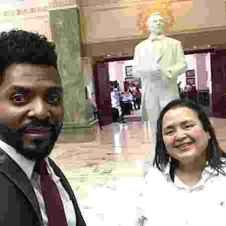 Alexsandro e Cristina no Memorial Joseph Smith, em Salt Lake City - Arquivo pessoal - Arquivo pessoal
