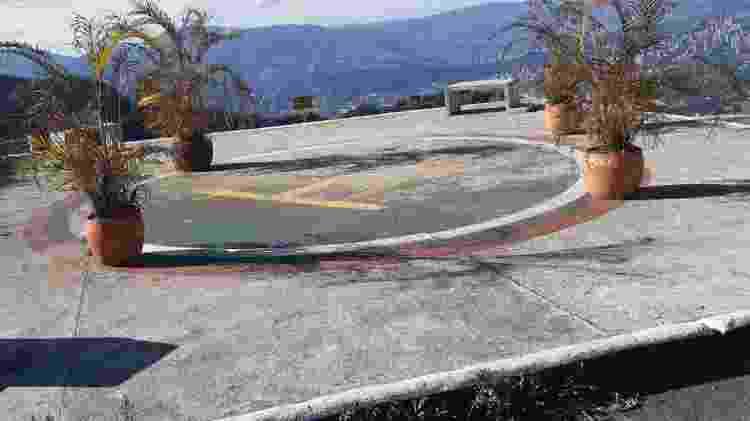 """Heliponto em """"El Catedral"""", prisão que Pablo Escobar construiu para si mesmo, em Medellín - Stefanomione/Wikimedia Commons - Stefanomione/Wikimedia Commons"""