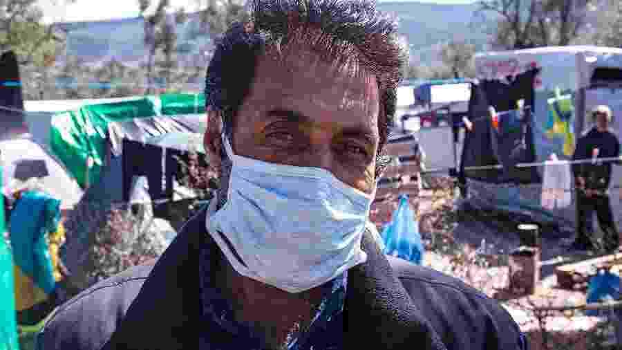 Kolahmad Nurozi, refugiado afegão em Lesbos - Foto: André Naddeo
