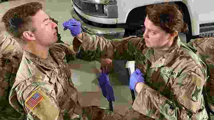 Treinamento da Guarda Nacional: Jovens entre 17 e 25 anos estão na linha de frente na guerra contra o coronavírus nos Estados Unidos - National Guard - National Guard