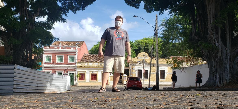 Sandro Valongueiro é um dos fundadores e diretor do bloco Minhocão, em Olinda - Carlos Madeiro/UOL