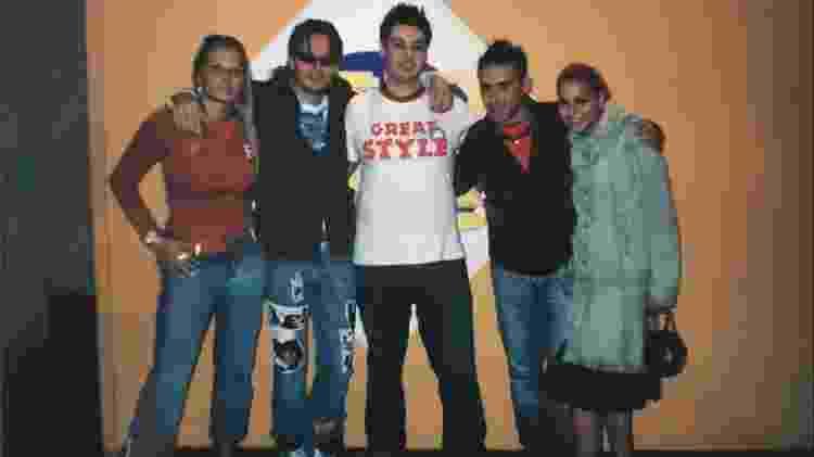Da esquerda para a direita, Ian Van Dahl, Magic Box, DJ Paulo Pringles, DJ Ross e Erika - Arquivo pessoal de DJ Paulo Pringles - Arquivo pessoal de DJ Paulo Pringles